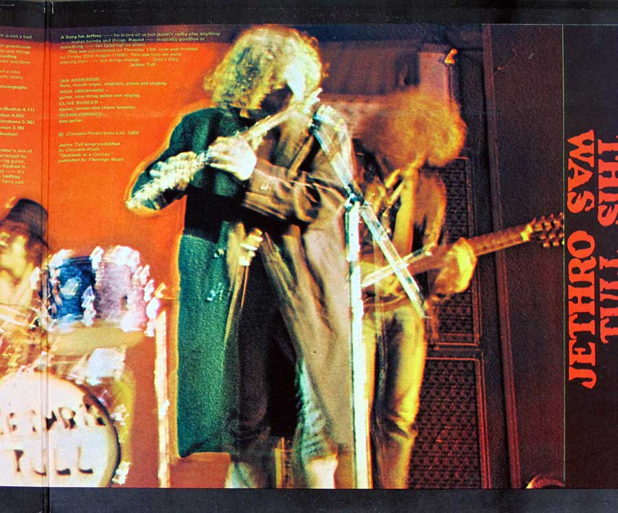 "Photo of the right page inside cover JETHRO TULL - This Was UK England Gatefold Cover 12"" LP Vinyl Album"