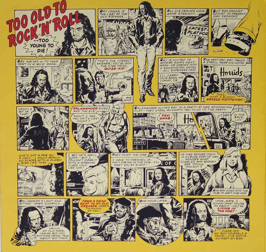 "JETHRO TULL - Too Old To Rock 'n' Roll: Too Young to Die Green Label 12"" VINYL LP ALBUM custom inner sleeve"