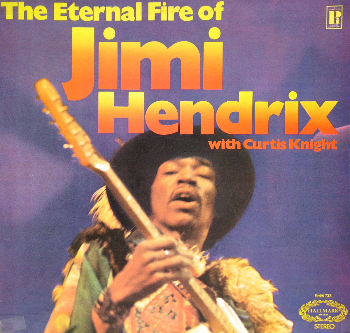 "Album front cover of the ""Eternal Fire with Jimi Hendrix"""