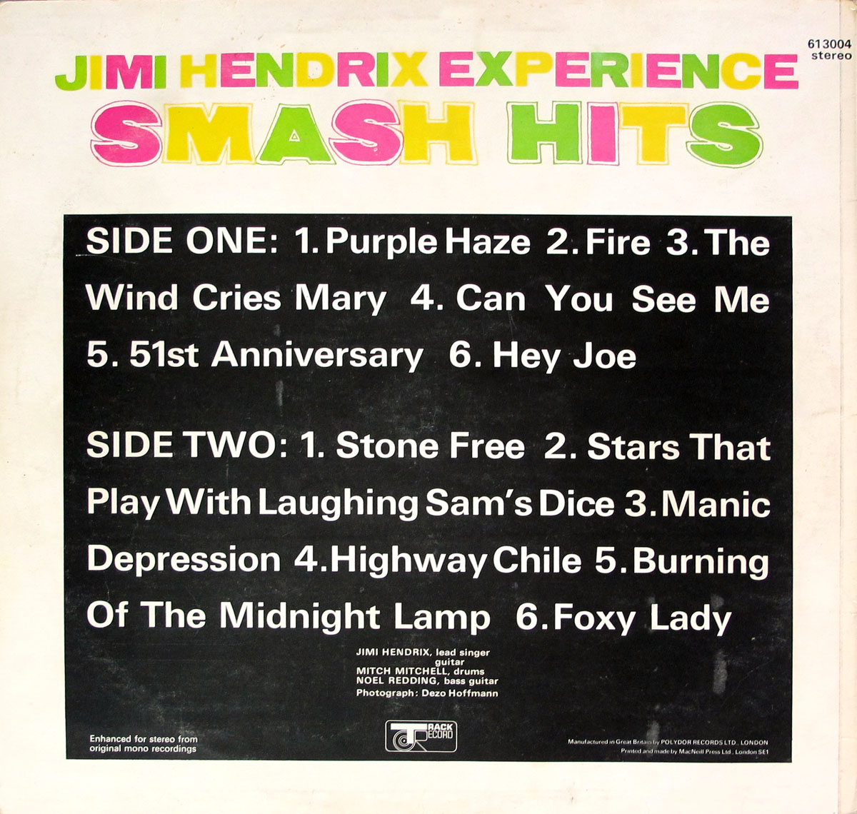 High Resolution Photo of jimi hendrix smash hits first