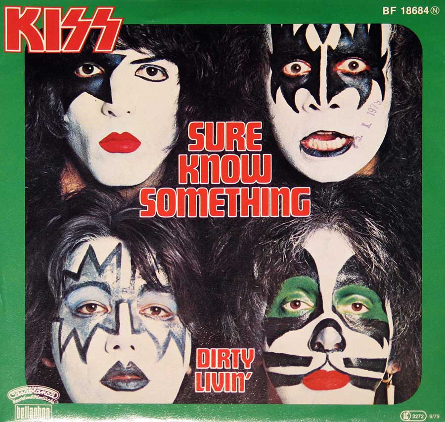 "KISS - Sure You Know Something / Dirty Livin' 7"" Single   album front cover"