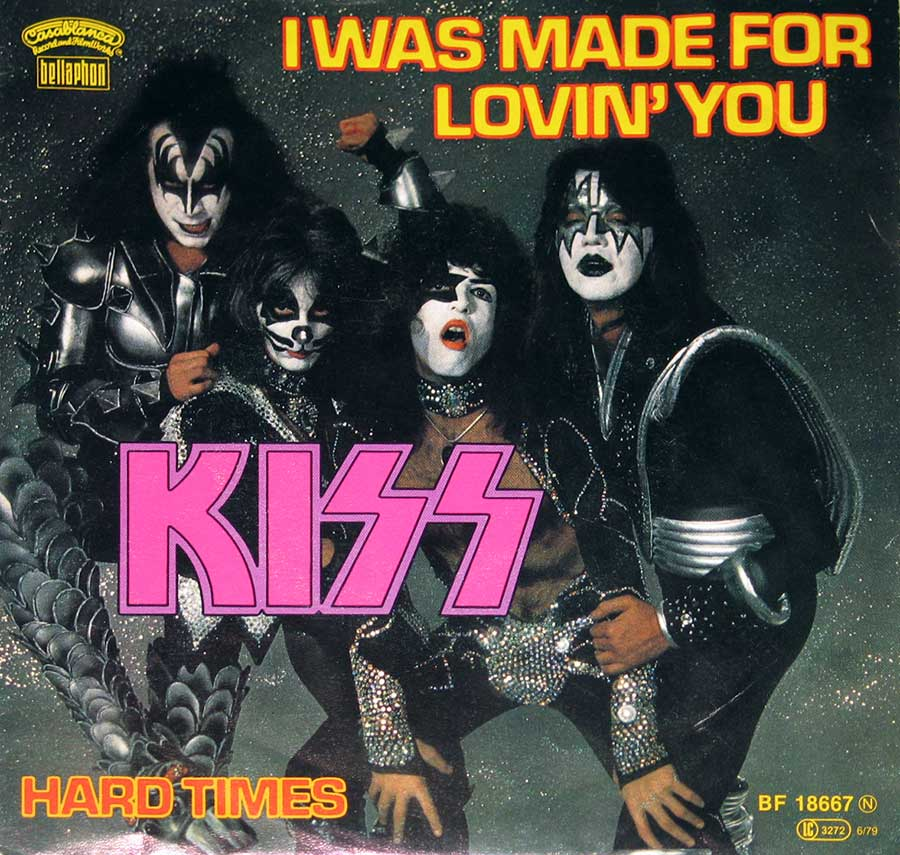 "KISS I Was Made For Lovin' You / Hard Times 7"" Single album front cover"