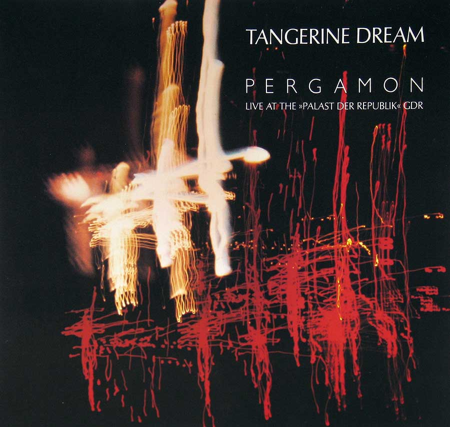 "TANGERINE DREAM - Pergamon - Live at the 'Palast der Republik' GDR 12"" VINYL LP ALBUM front cover https://vinyl-records.nl"