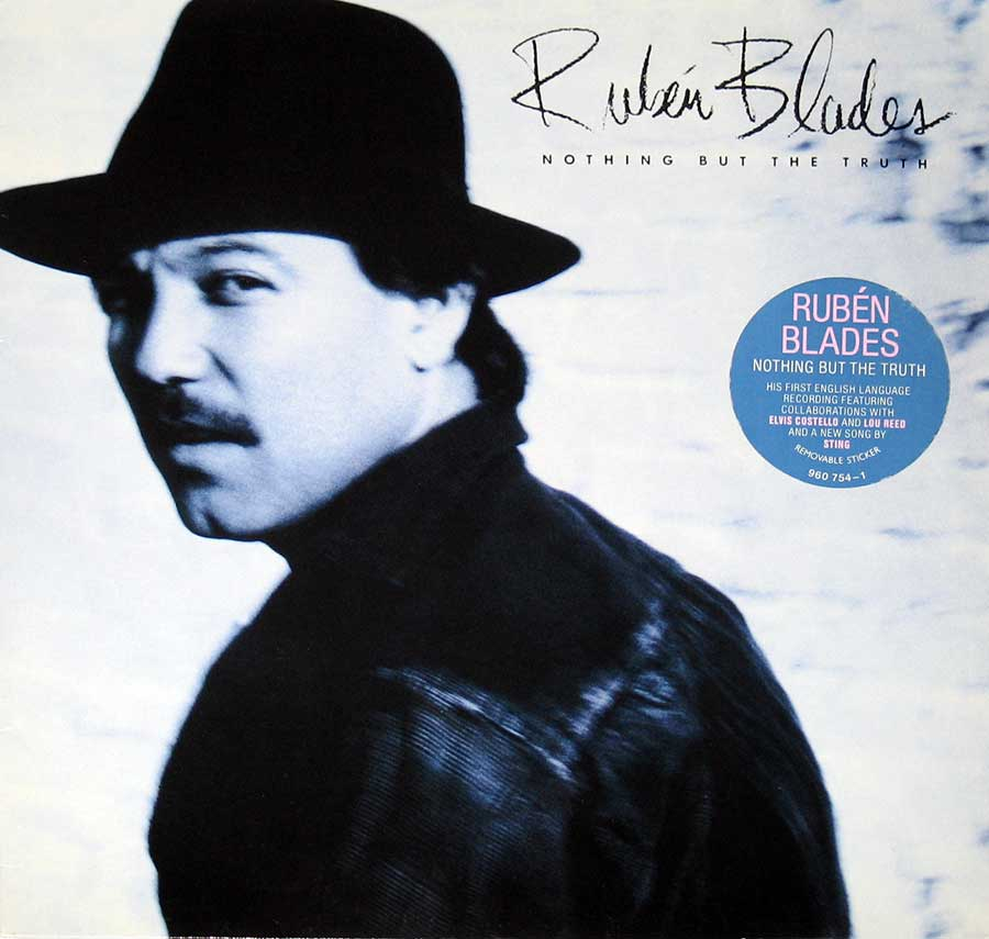 "RUBEN BLADES - Nothing but the Truth with Lou Reed 12"" VInyl LP  album front cover"