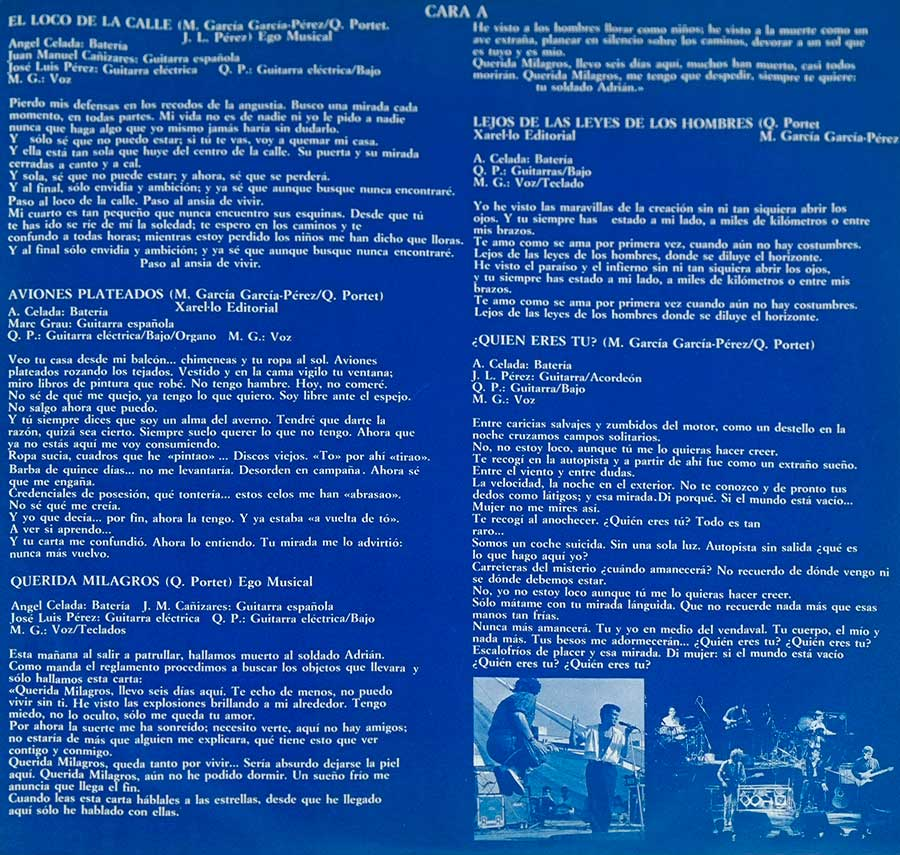 Photo One Of The Original Custom Inner Sleeve ULTIMO DE LA FILA – Nuevas Mezclas