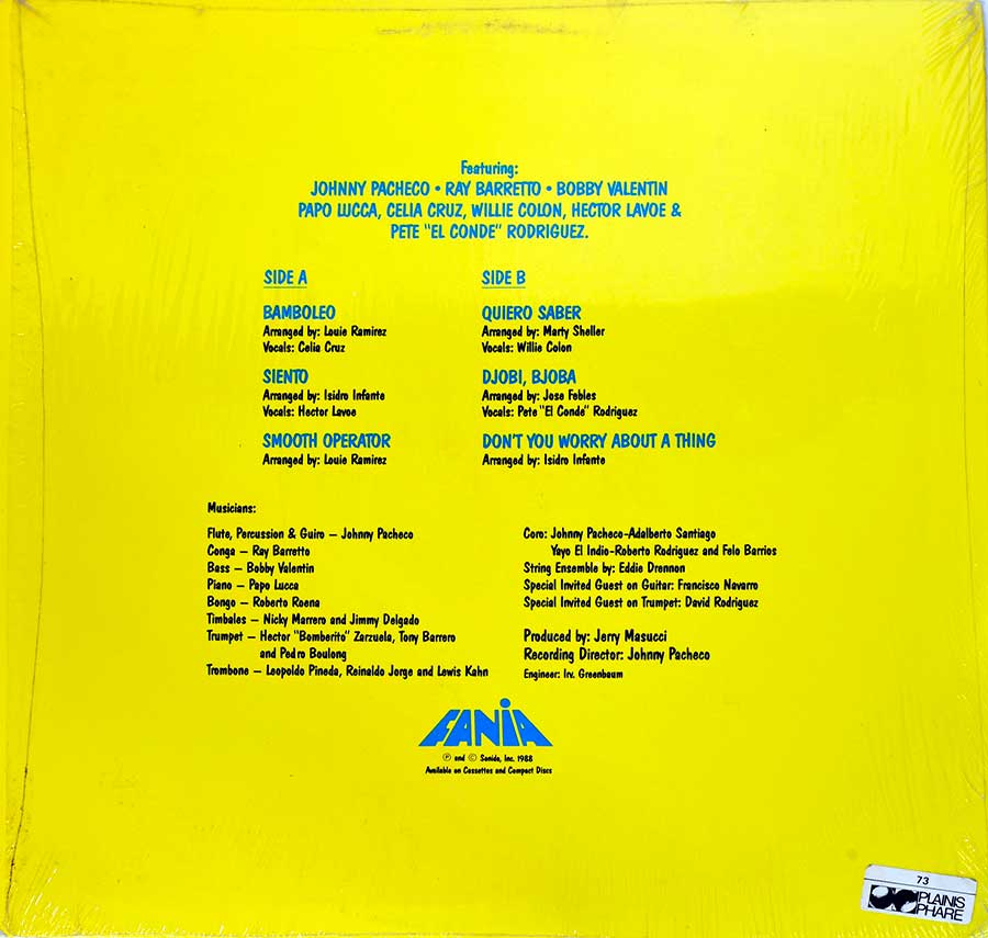Photo of album back cover FANIA ALL STARS - Bamboleo ( USA Release )