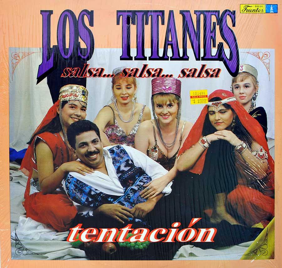 """LOS TITANES DE LA SALSA - Tentacion 12"""" Vinyl LP Album  front cover https://vinyl-records.nl"""