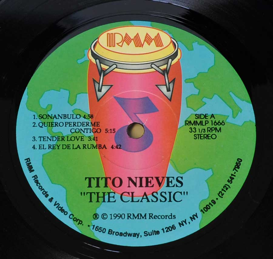 Close up of record's label TITO NIEVES - The Classic Tito Nieves Side One