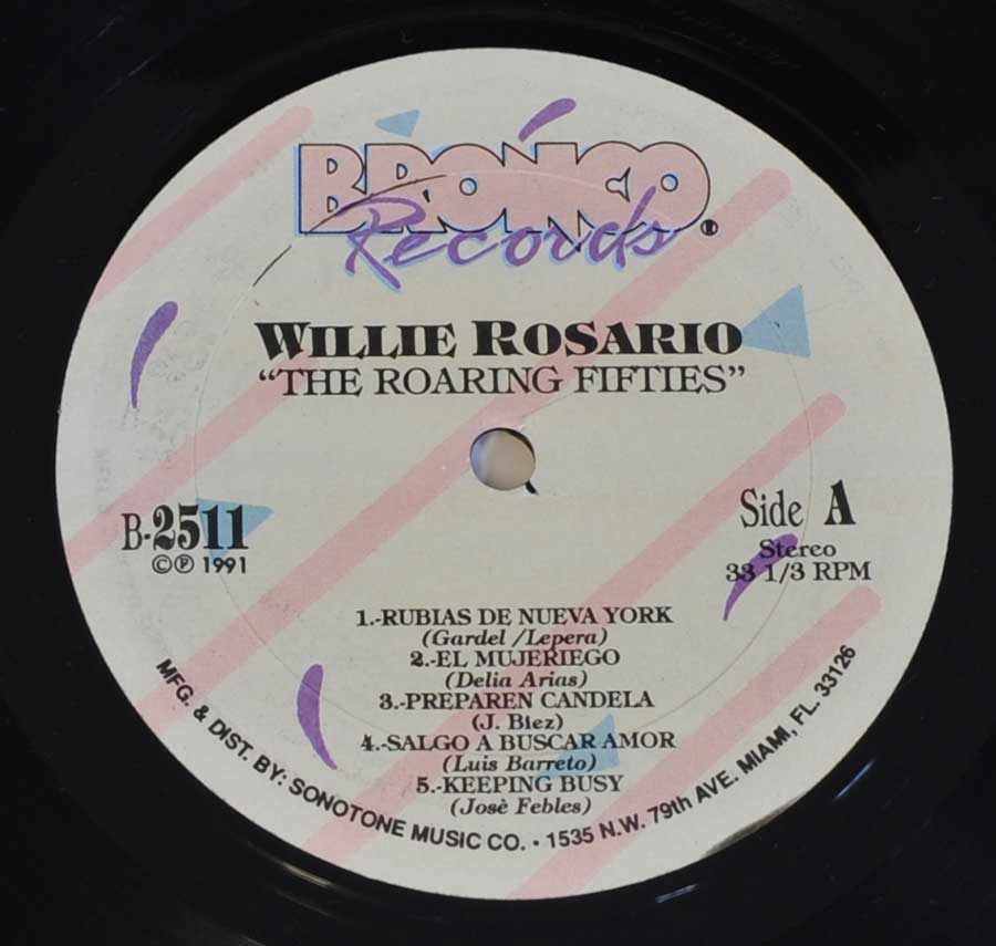 """The Roaring Fifties"" Record Label Details: Bronco Records B-2511 © ℗ 1991"