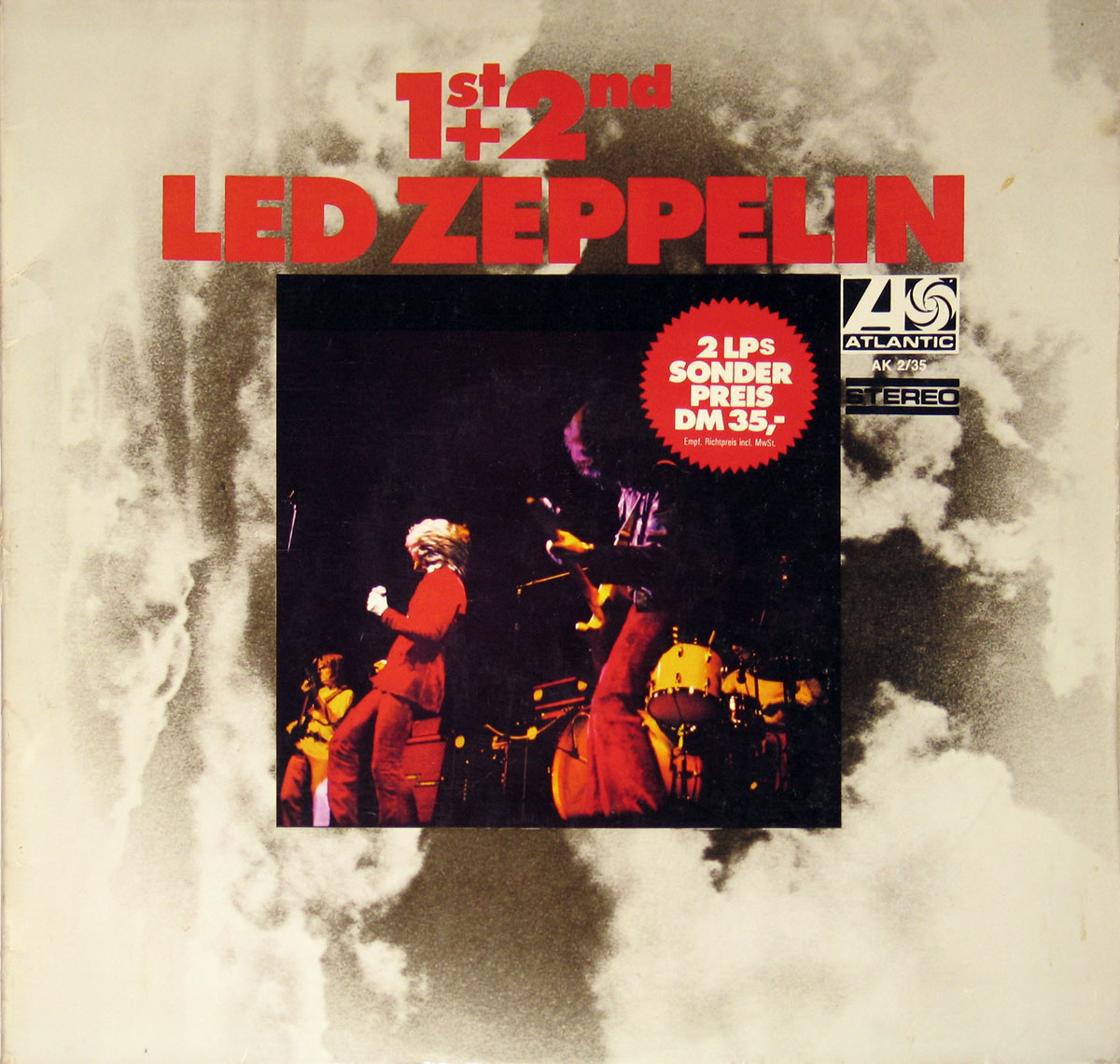 High Resolution Photo of Led Zeppelin 1st + 2nd 2LP Set