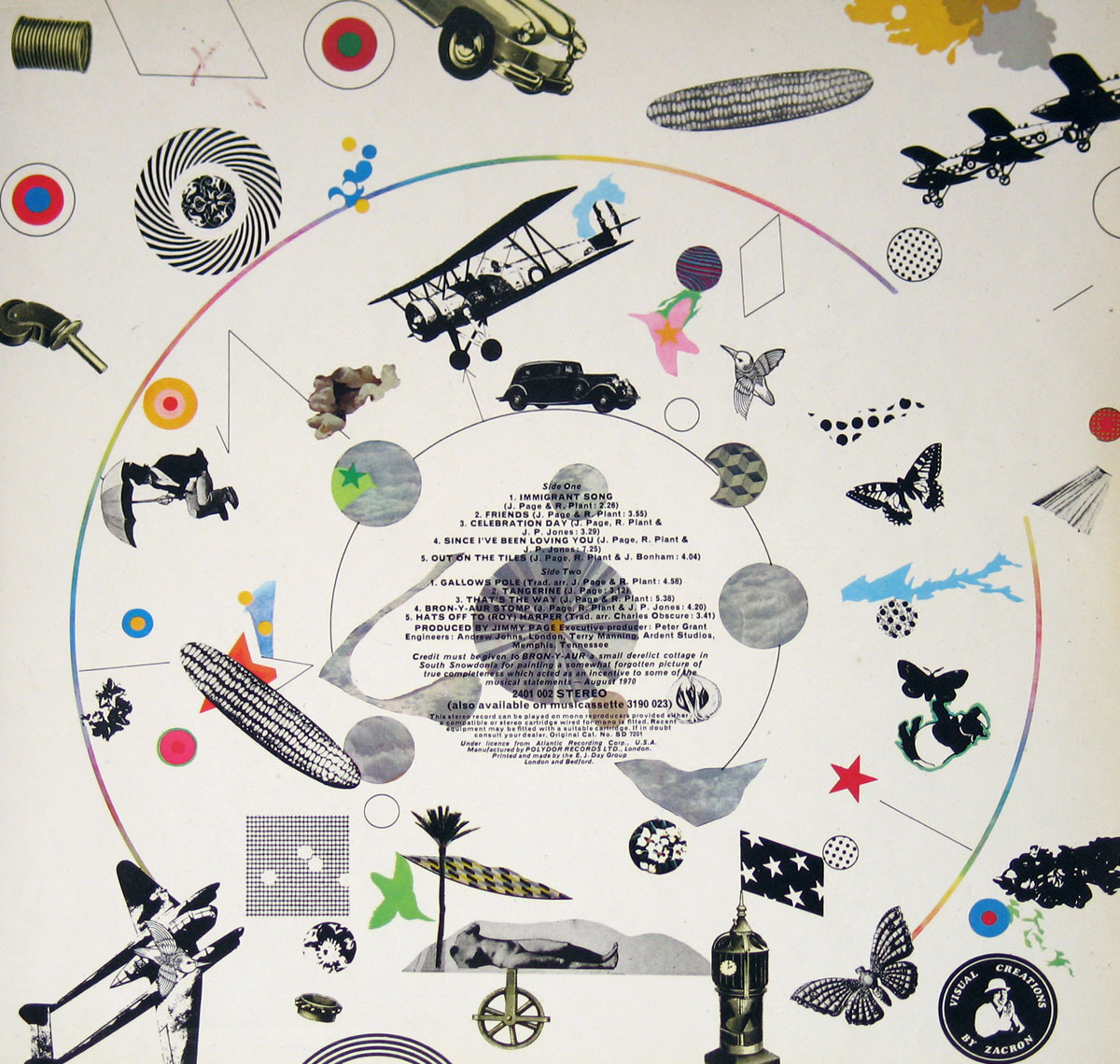 High Resolution Photo of Led Zeppelin III Spinning Wheel acover  LP