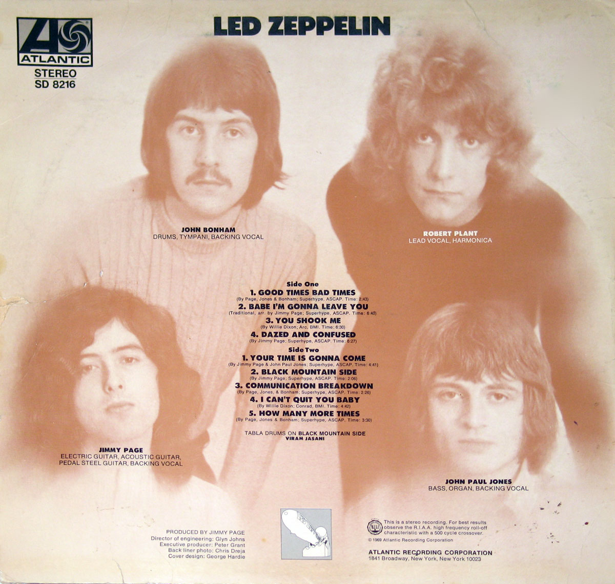 High Resolution Photo of Led Zeppelin - Self-Titled USA release LP