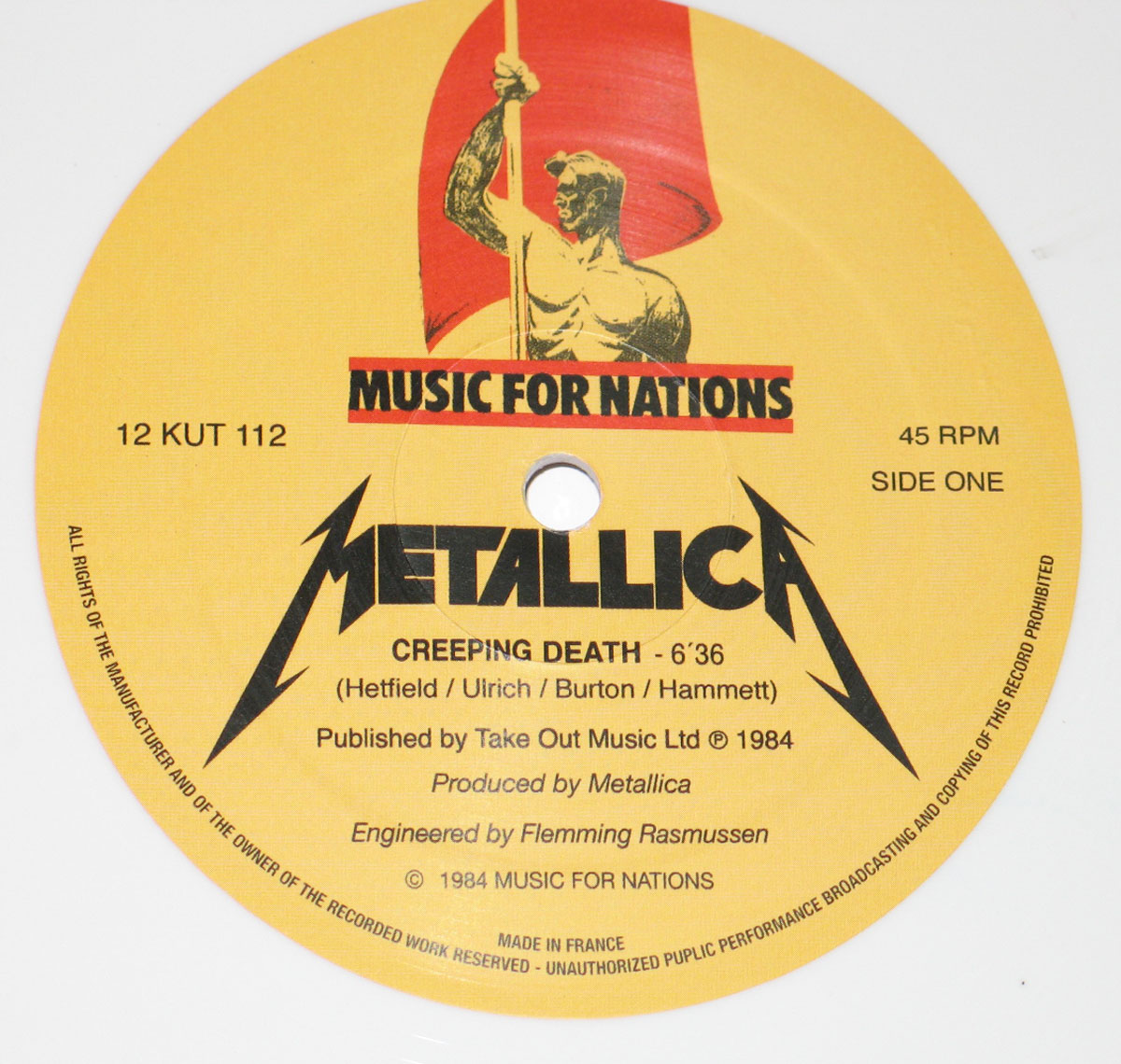 High Resolution Photo of Metallica Creeping Death White   Vinyl