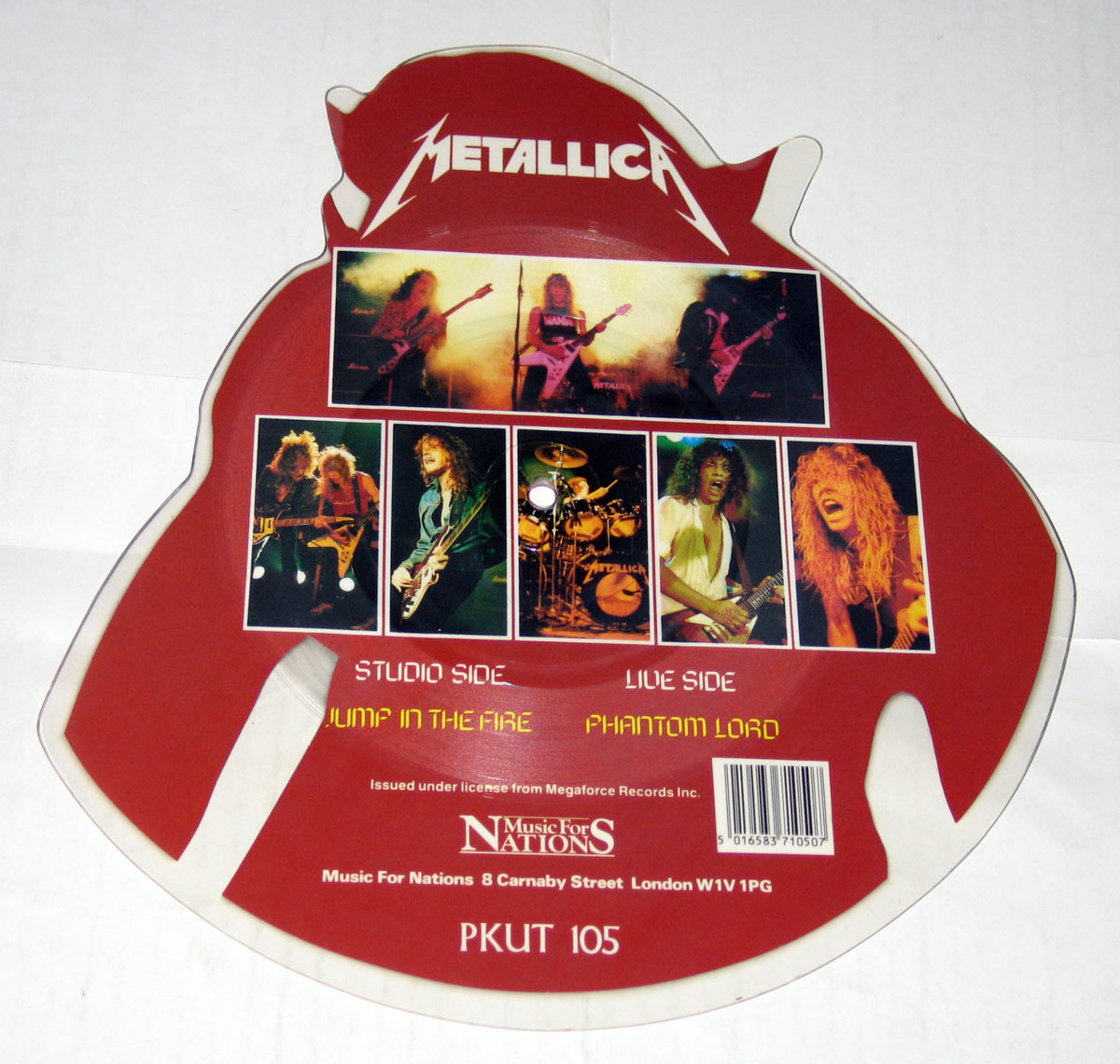 High Resolution Photo Metallica Jump In The Fire Shaped Picture Disc Vinyl Record