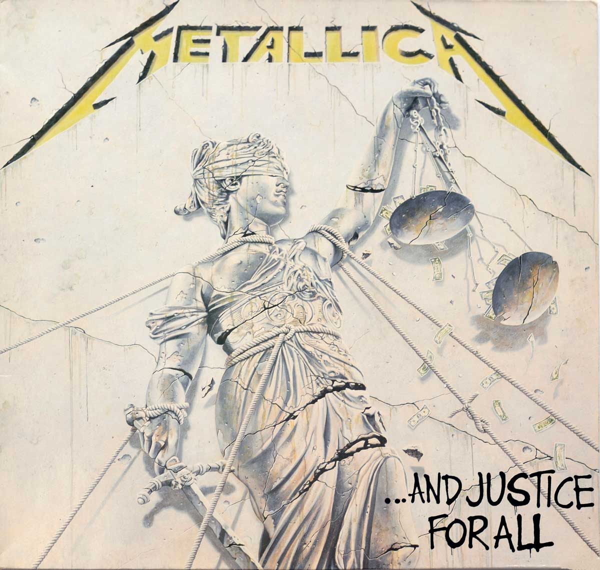 "High Quality Photo of Album Front Cover  ""METALLICA And Justice For All"""