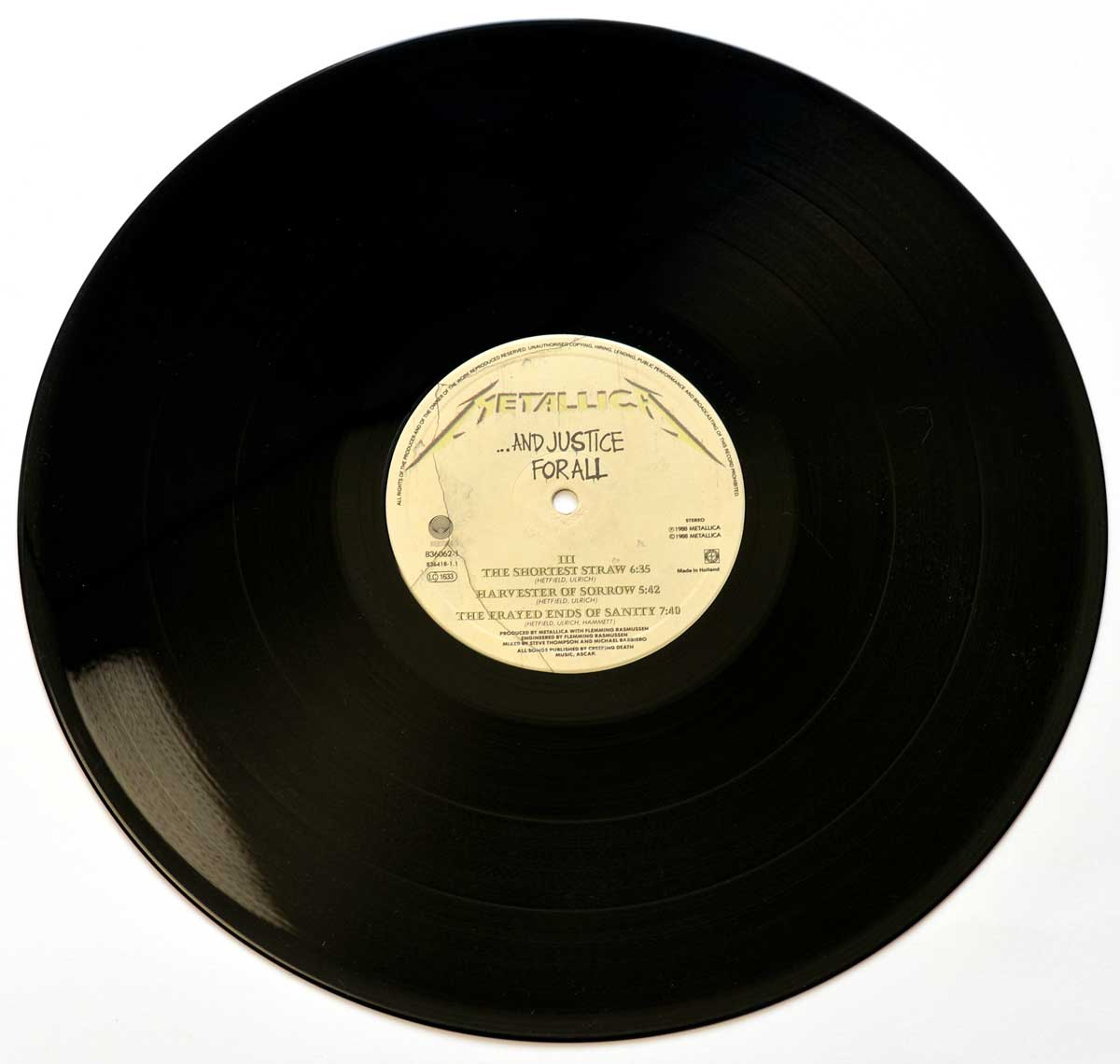 "Photo of ""METALLICA And Justice For All"" 12"" LP Record - Side Three:"