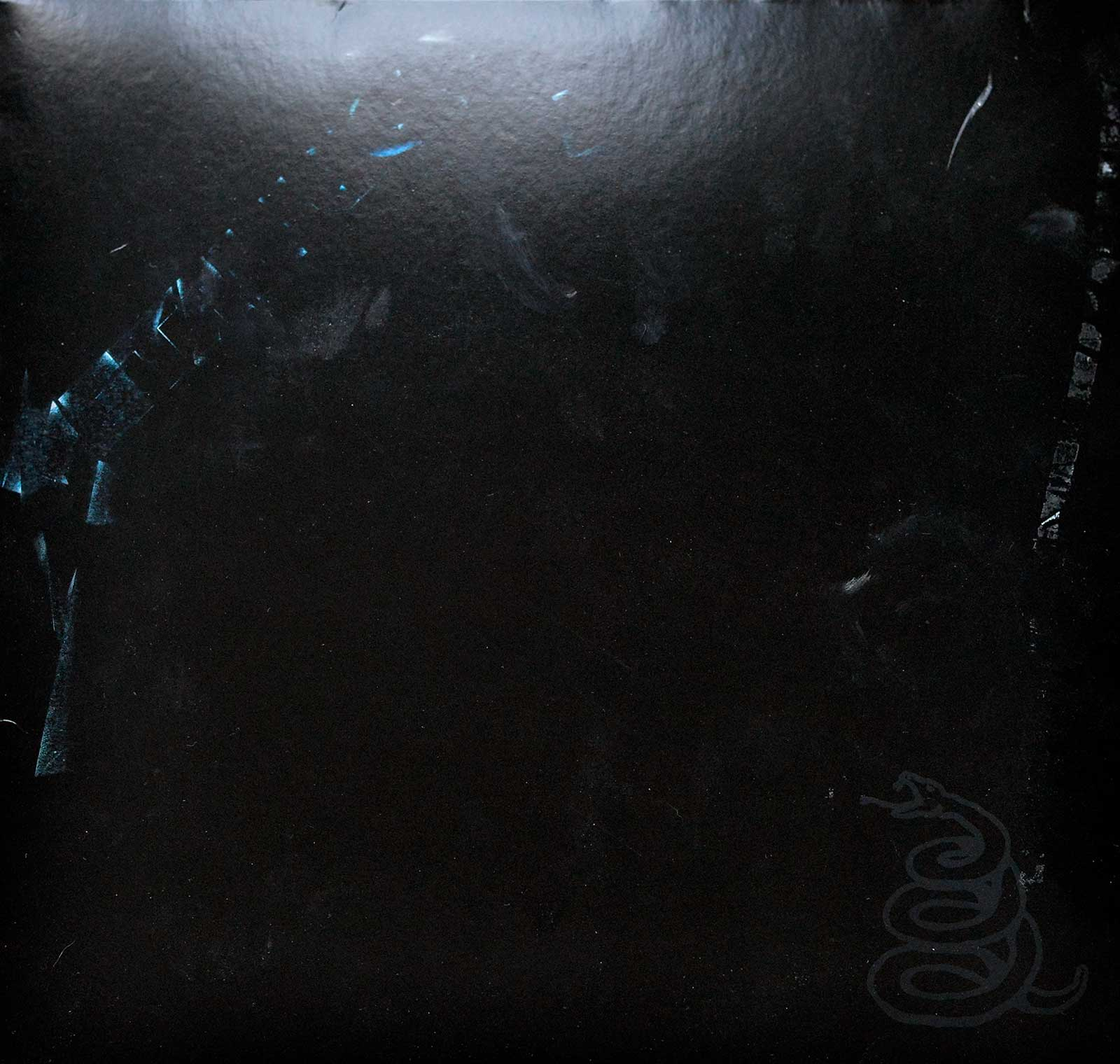 Album Front Cover Photo of METALLICA The Black Album 2LP 180 Grams Audiophile Blackened Records