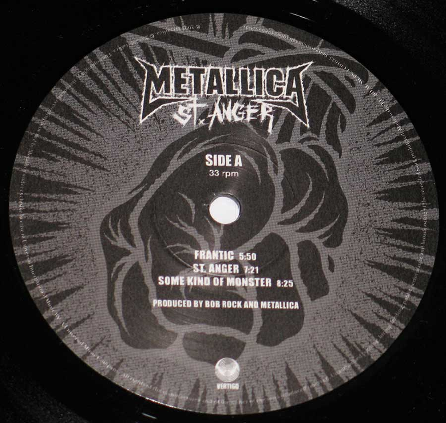 High Resolution Photo of metallica st anger lp