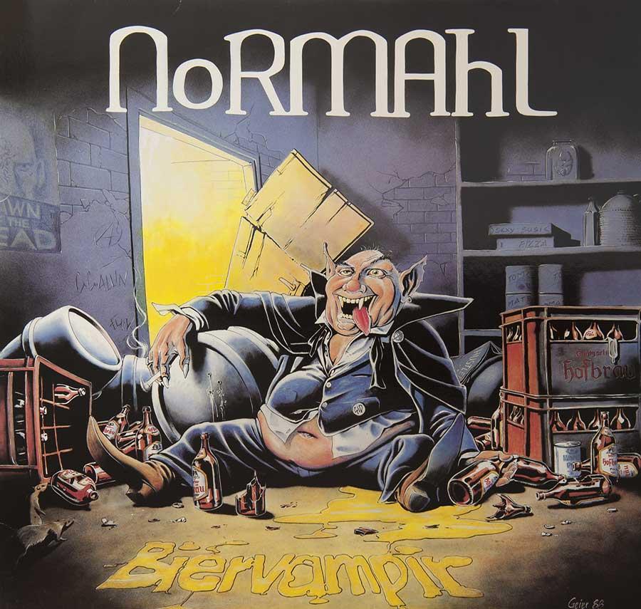 NORMAHL - Biervampir / Der Hausmeister Vinyl Record album front cover