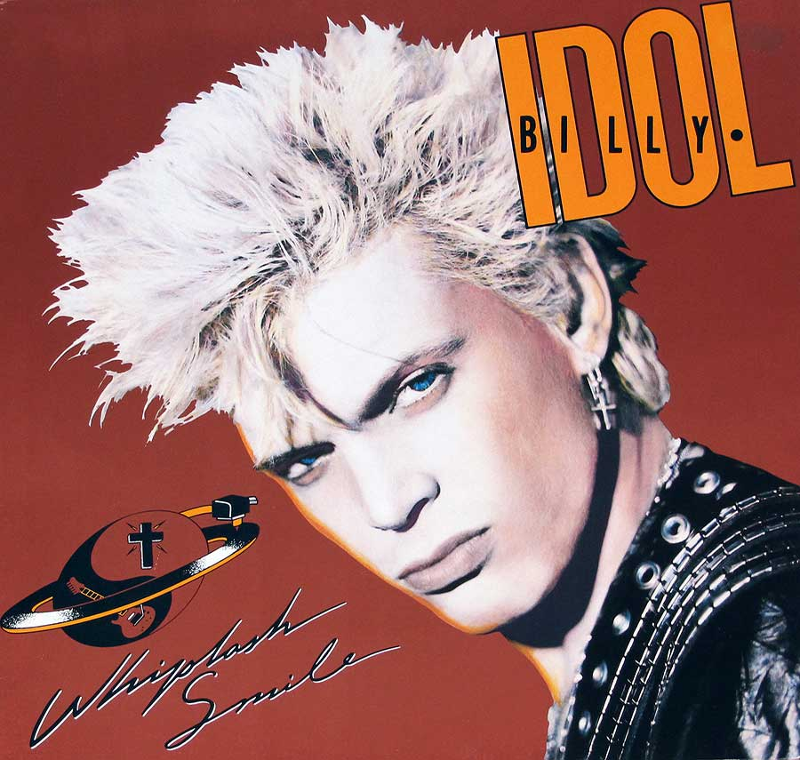 "BILLY IDOL - Whiplash Smile 12"" Vinyl LP Album  album front cover"