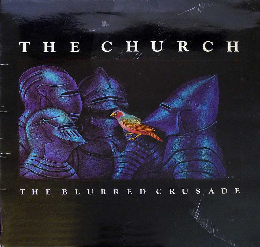 "Front Cover Photo Of THE CHURCH - Blurred Crusade 12"" Vinyl LP Album"
