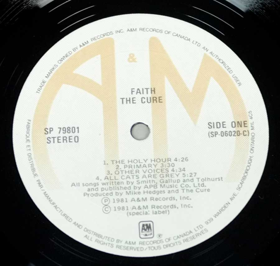 """Faith"" Record Label Details: A&M Records SP 7901"