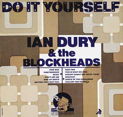 "Thumbnail of IAN DURY & THE BLOCKHEADS - Do It Yourself Brown Cover 12"" Vinyl LP Album album front cover"