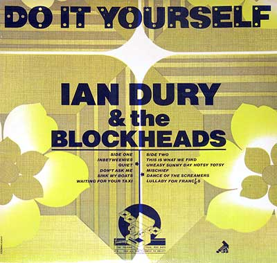 "Thumbnail of IAN DURY & THE BLOCKHEADS - Do It Yourself Yellowish Cover 12"" Vinyl LP Album album front cover"