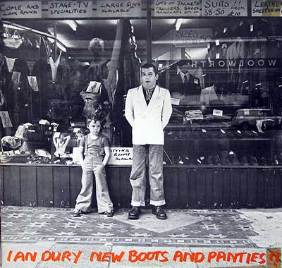 "Thumbnail of IAN DURY - New Boots and Panties!!! Portuguese Release 12"" Vinyl LP Album album front cover"