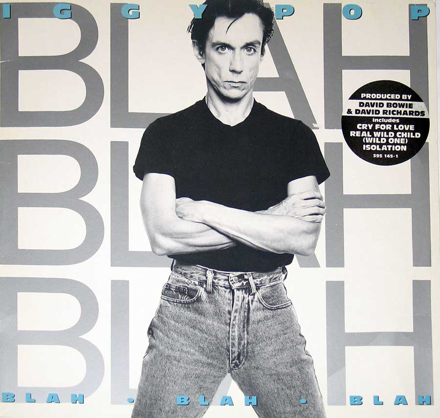 "IGGY POP - Blah Blah Blah 12"" VINYL LP ALBUM  front cover https://vinyl-records.nl"