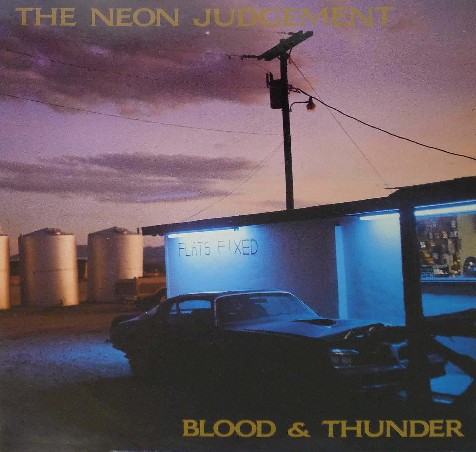 large photo of the album front cover of: neon judgement