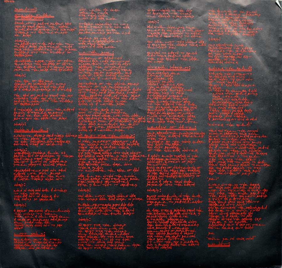 "Photo of ""ANIHILATED The Ultimate Desecration "" Album's Inner Sleeve"