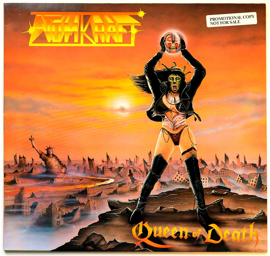 High Resolution Photo Album Front Cover of ATOMKRAFT - Queen of Death ( Netherlands Release ) https://vinyl-records.nl