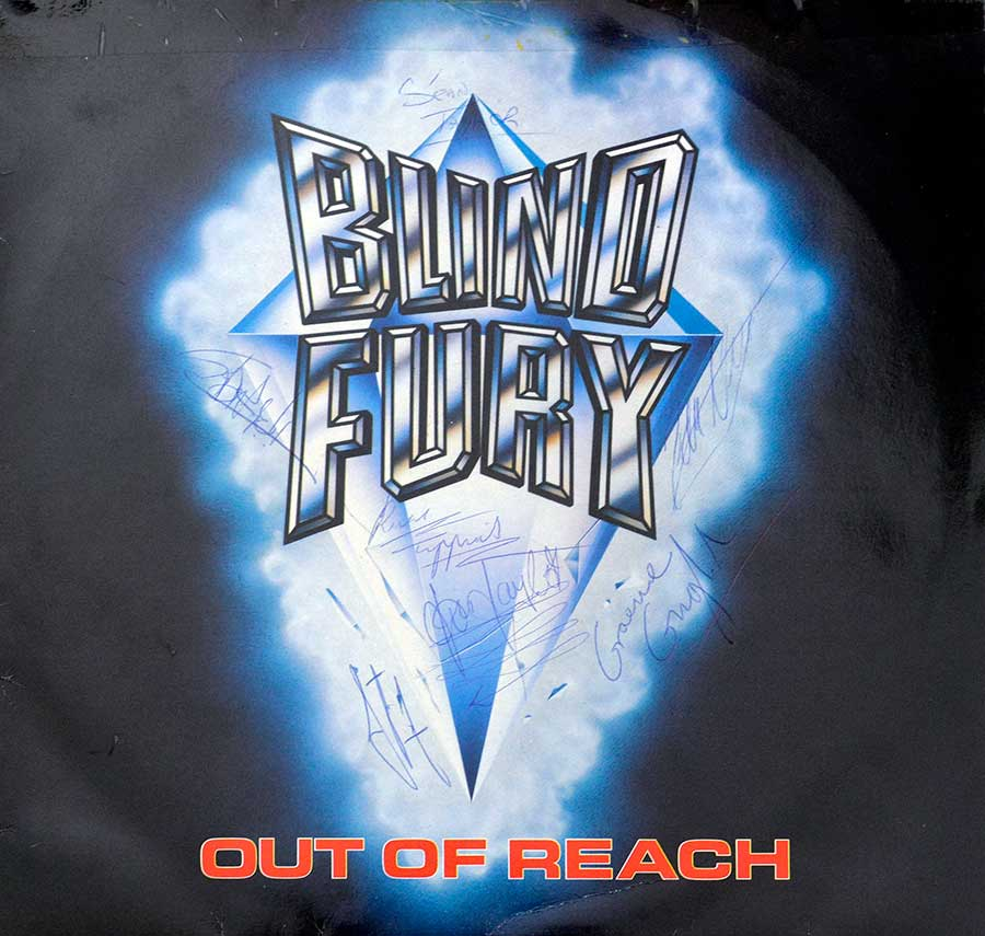 High Resolution Photo Album Front Cover of BLIND FURY - Out of Reach https://vinyl-records.nl