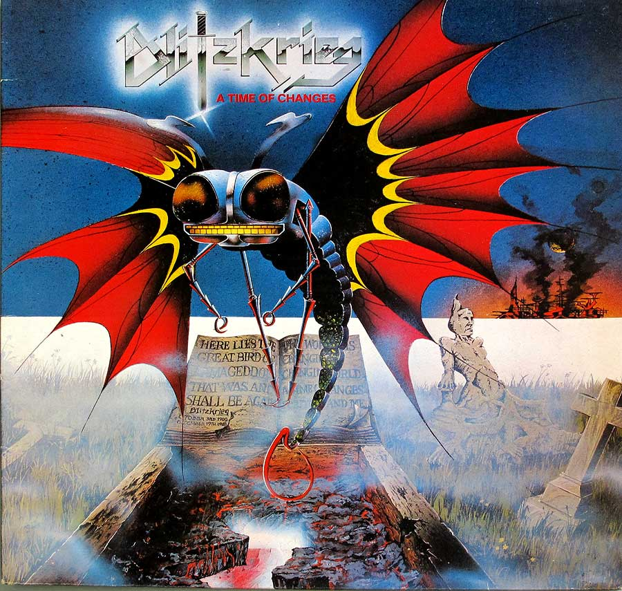 Front Cover Photo Of BLITZKRIEG - A Time of Changes