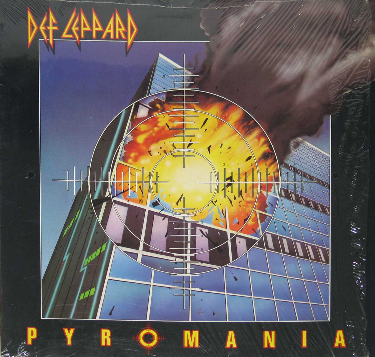 "Front Cover Photo Of Def Leppard Pyromania ( Netherlands ) 12"" Vinyl LP Album"