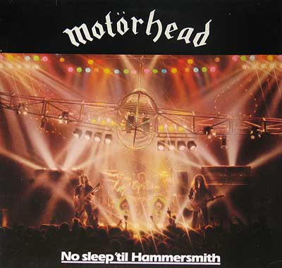 "Thumbnail of MOTORHEAD - No Sleep Til' Hammersmith 12"" Vinyl LP album front cover"