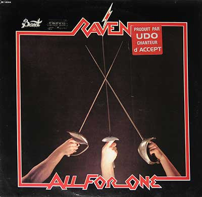 "RAVEN - All For One ( 1983, France ) 12"" LP"