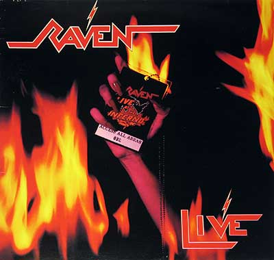 "RAVEN - Live at the Inferno ( 1984, Netherlands ) 12"" LP"