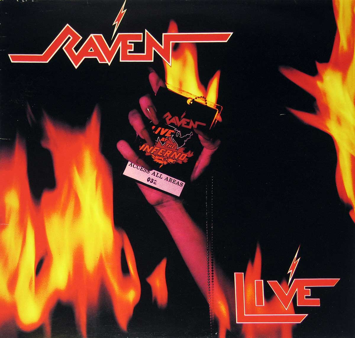 large photo of the album front cover of: Raven  Live at the Inferno