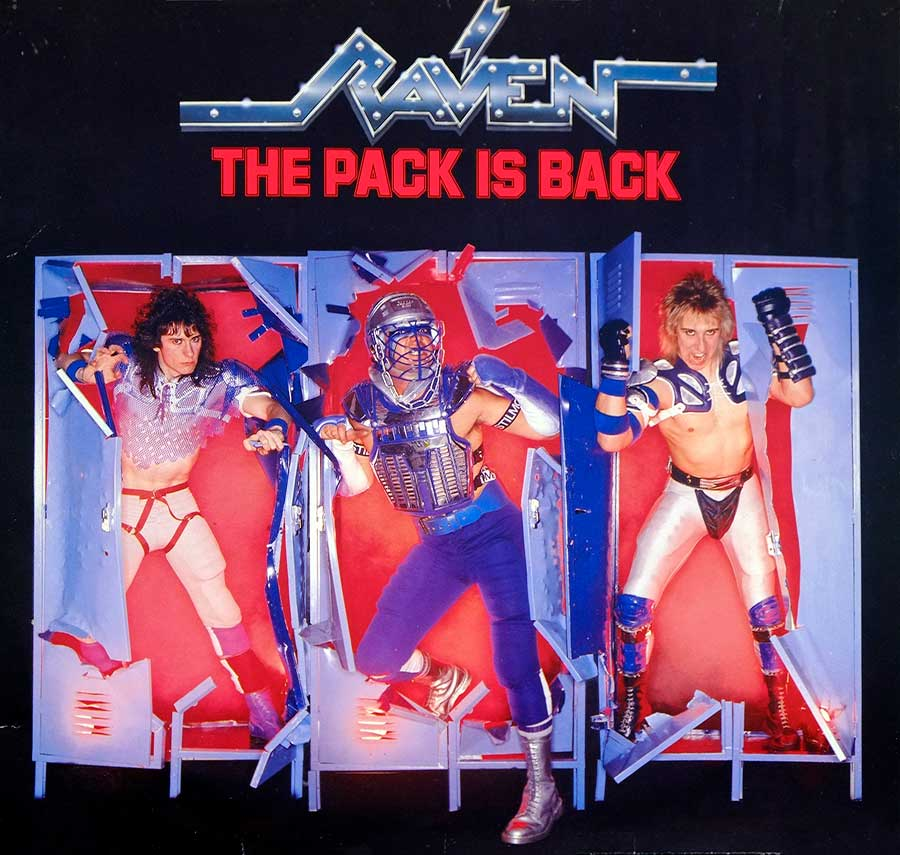 "RAVEN - The Pack Is Back NWOBHM 12"" Vinyl LP Album front cover https://vinyl-records.nl"