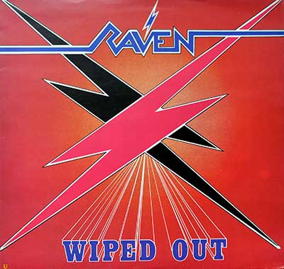 "RAVEN - Wiped Out ( 1982, Italy ) 12"" LP"