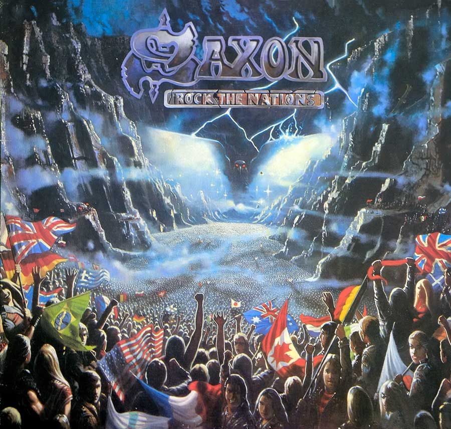 large photo of the album front cover of: SAXON -  Rock The Nations