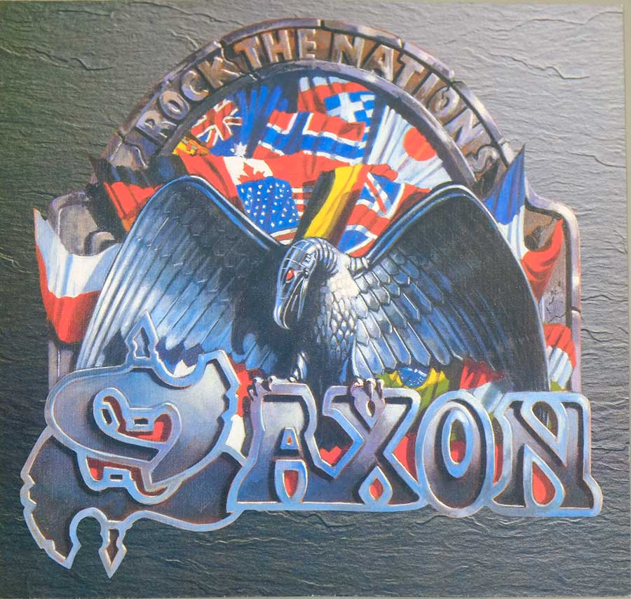 Photo One Of The Original Custom Inner Sleeve SAXON -  Rock The Nations