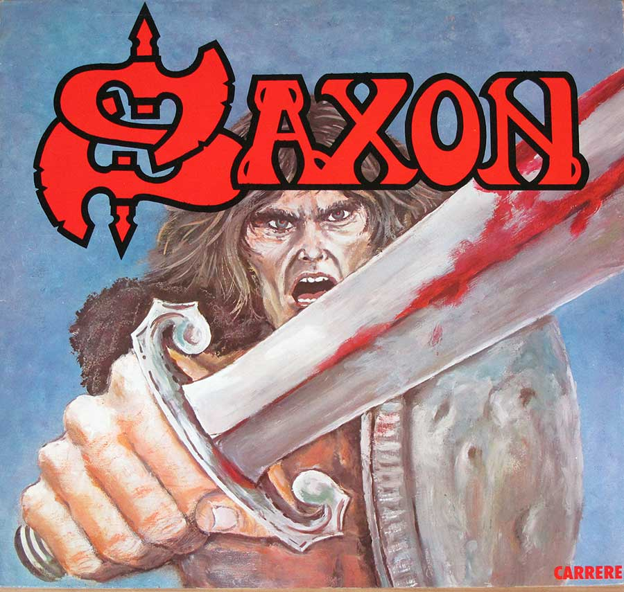 "SAXON - Self-Titled French Release 12"" LP VINYL ALBUM front cover https://vinyl-records.nl"