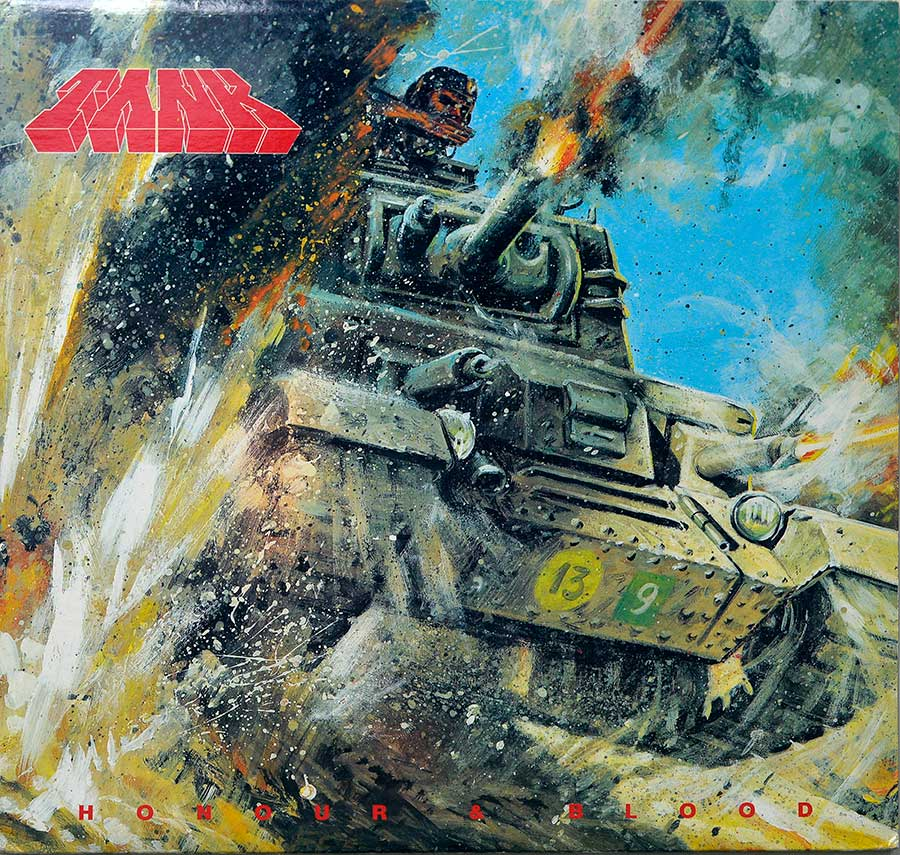 "TANK - Honour And Blood NWOBHM USA And Canada Release 12"" LP ALBUM VINYL front cover https://vinyl-records.nl"