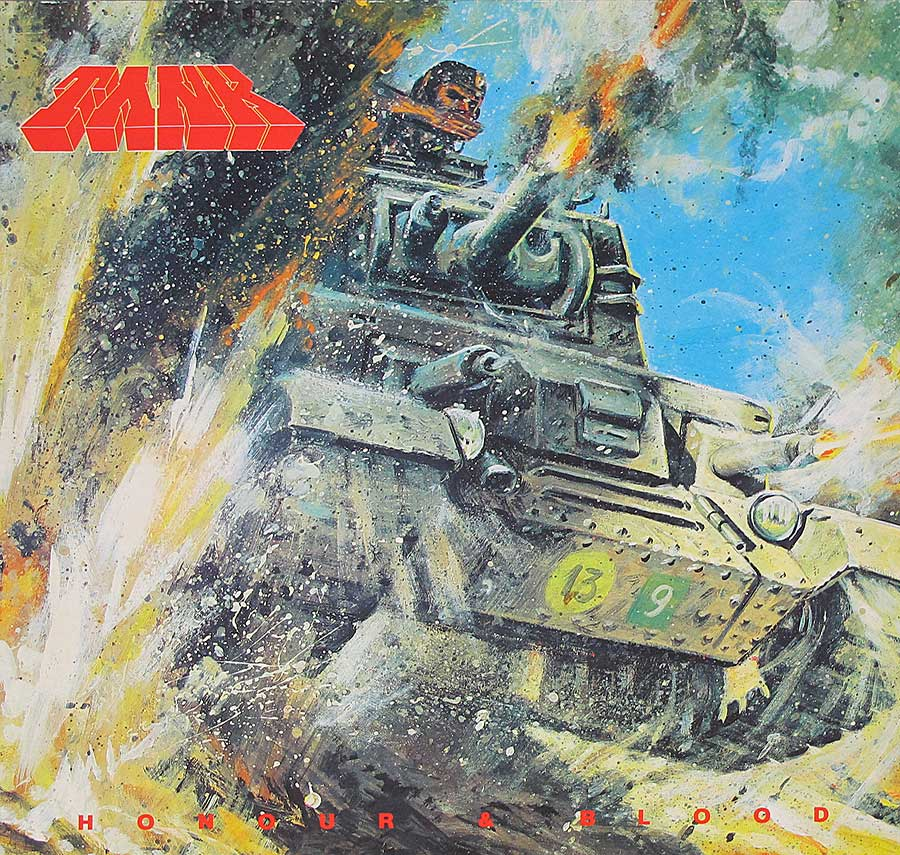 "large photo of the album front cover of: TANK  - Honour And Blood NWOBHM 12"" Vinyl LP Album"