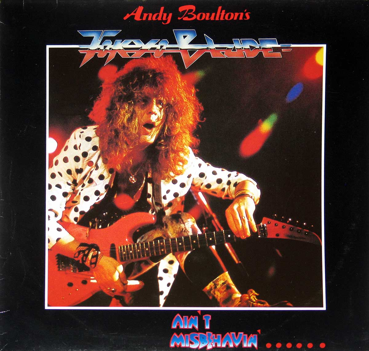 Front Cover Photo Of ANDY BOULTON TOKYO BLADE - Ain't Misbehavin' NWOBHM