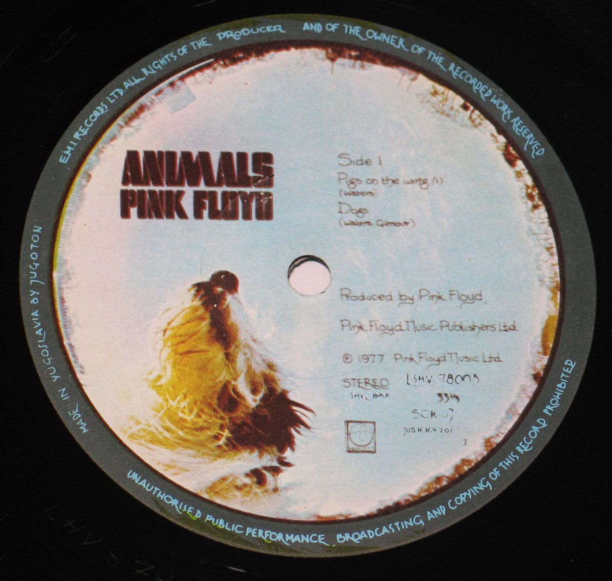 High Resolution Photo #5 PINK FLOYD Animals Yugoslavia