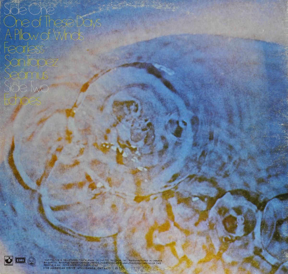 High Resolution Photo #2 PINK FLOYD Meddle Canada